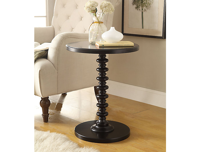 Acton End Table, Black, Black, large