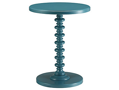 Acton End Table, Black, Teal, large