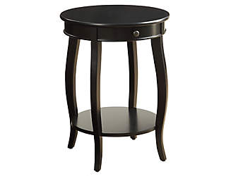 alysa black end table