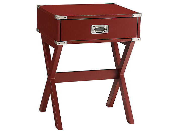 Babs End Table, Red, , large