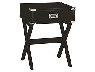 Babs End Table, Black, , large