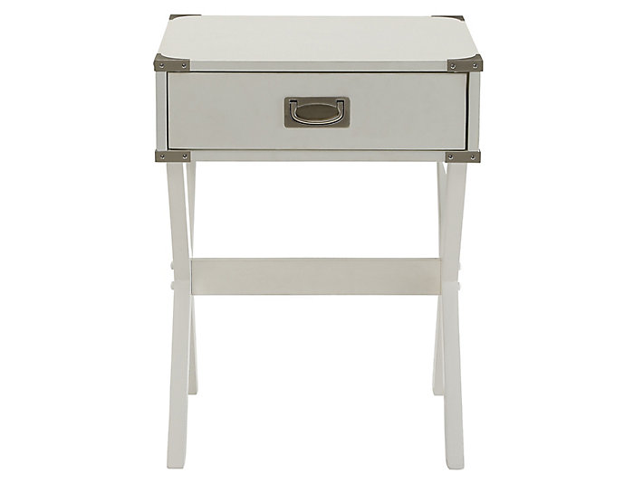 Babs End Table, White, , large