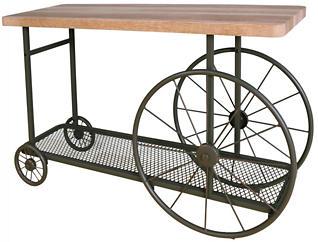 Francie Sofa Table, Oak, , large