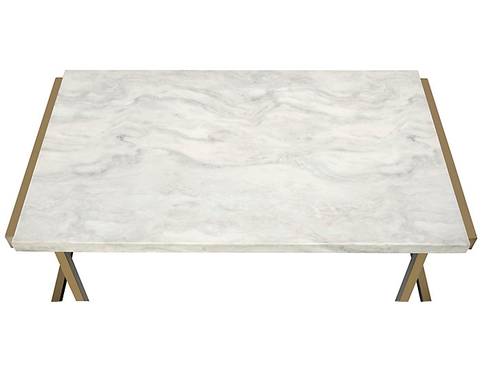 ... Boice Faux Marble Coffee Table, Gold, , Large ...