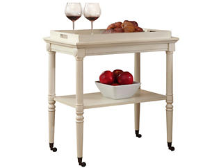 Frisco White Tray Table, , large