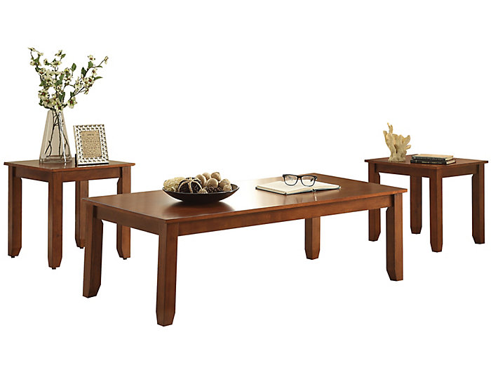 Maine Cherry 3 Piece Table Set, , large