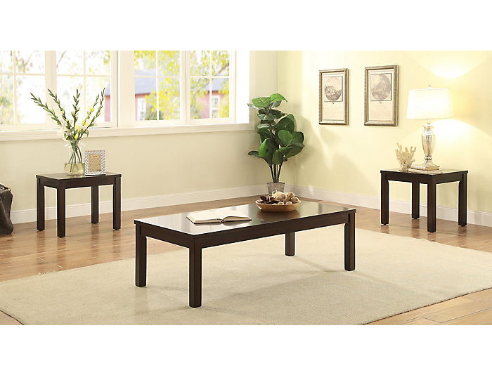 Malak Walnut 3 Piece Table Set, , large