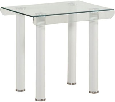 Perla End Table, White, swatch