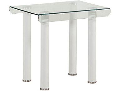 Perla End Table, White, large