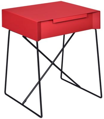Gualacao End Table, Red, swatch