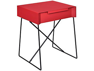 Gualacao End Table, Red, large