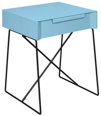 Gualacao End Table, Blue, swatch