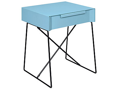Gualacao End Table, Blue, large