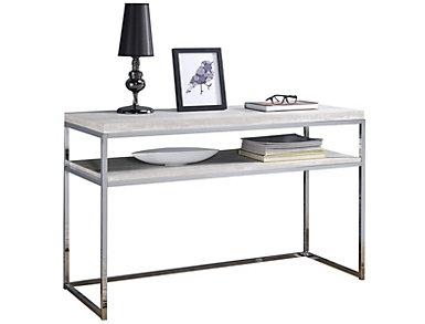 Iman Chrome Sofa Table, , large