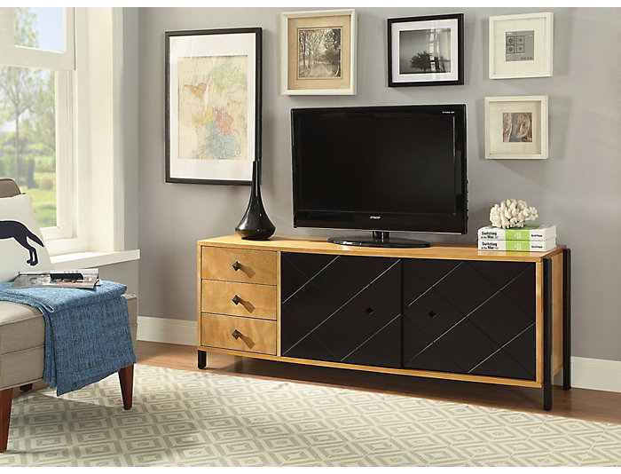 Cicero Natural Wood TV Stand, , large