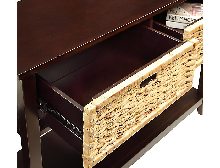 Flavius Console Table, Espresso Brown, , large