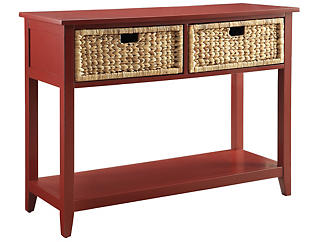 Flavius Console Table, Burgundy, , large