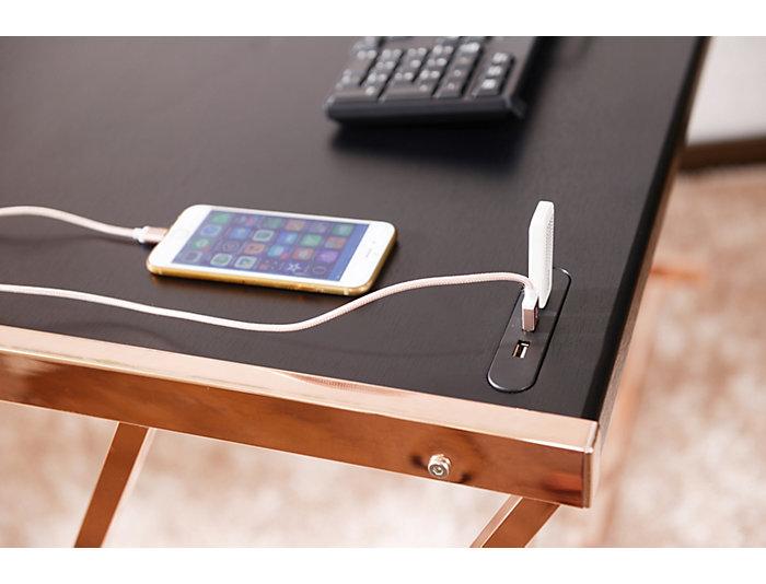 Finis Black Desk W/ USB Dock, , large