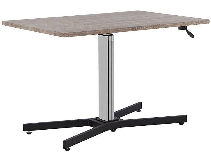 Inscho Grey Adj. Height Desk, , large