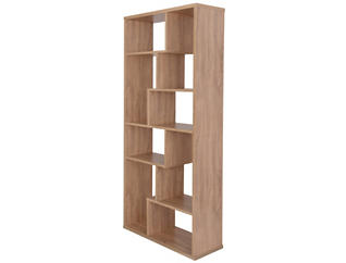 Cora Cube Oak Bookcase, , large