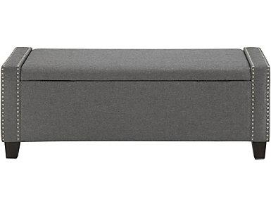 Aleta Grey Storage Bench, , large