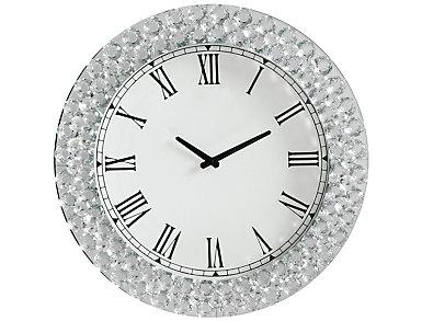 Vivian Mirrored Wall Clock, , large