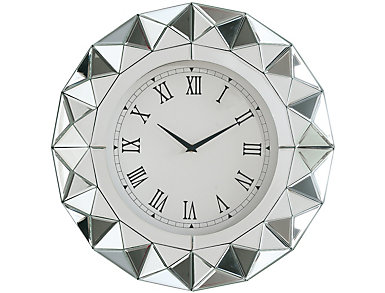 Scarlett Mirrored Wall Clock, , large