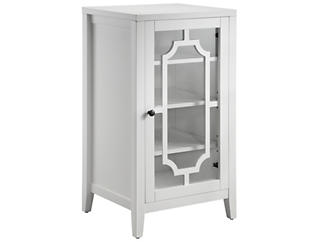 Fina White Accent Cabinet, , large