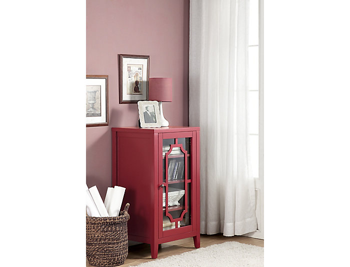 Fina Burgundy Accent Cabinet, , large