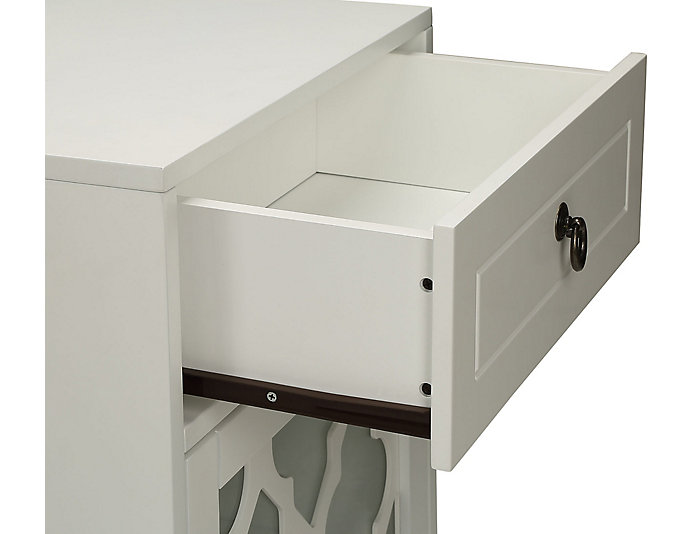 Ceara White Floor Cabinet, , large