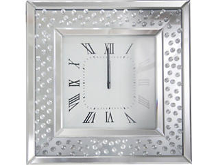 Ginger Mirrored Wall Clock, , large
