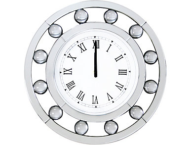 Ava Mirrored Wall Clock, , large