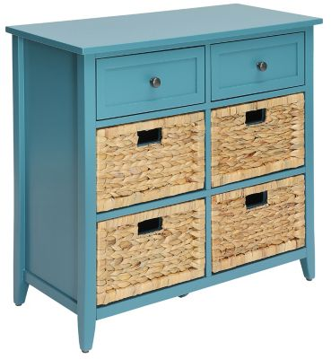 Flavius 6 Drawer Chest, Teal, swatch