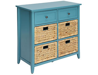 Flavius Teal 6 Drawers Chest, Teal, , large
