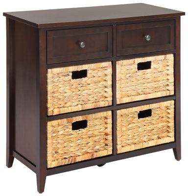 Flavius 6 Drawer Chest, Brown, swatch