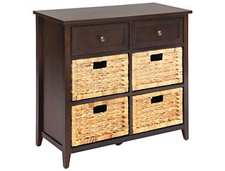 Flavius 6 Drawer Chest, Brown, large