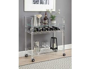 Foxglove Acrylic Bar Cart, , large