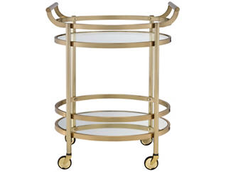Lakelyn Gold Serving Cart, Gold, large