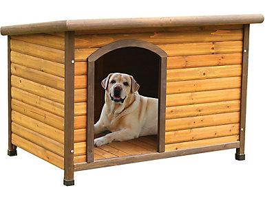 Molly Light Oak Dog House, , large