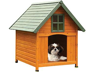 Sadie Honey Oak Dog House, , large