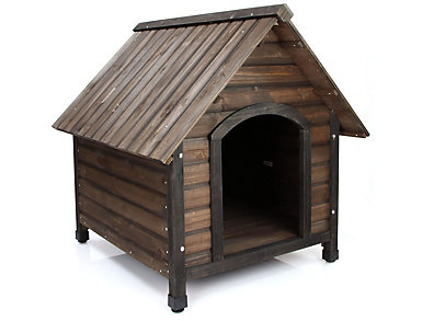 Benji Dark Oak Dog House, , large