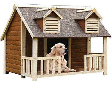 Cooper Cream & Oak Dog House, , large
