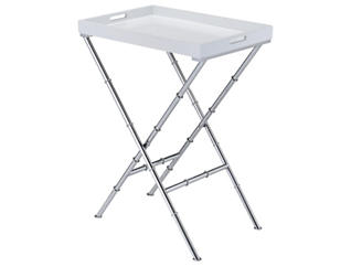Lajos Tray Table, White, , large