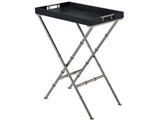 Lajos Tray Table, Black, , large