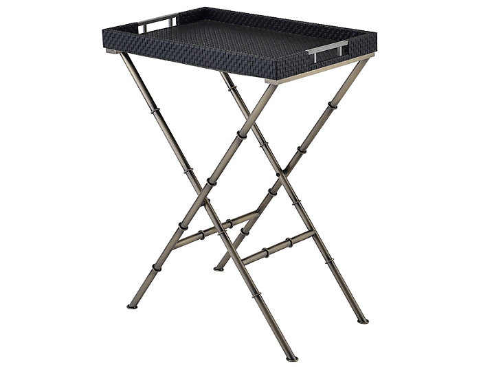 Lajos Tray Table, Gold, , large