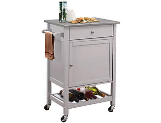 Hoogzen Gray Kitchen Cart