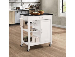 Ottawa White Kitchen Cart, , large