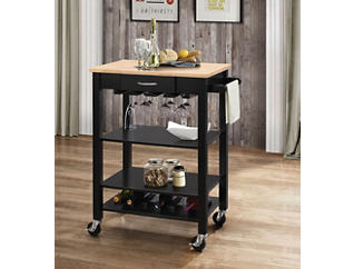 Ottawa Black Kitchen Cart, , large