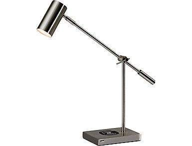 Colette Charge Steel Desk Lamp, , large
