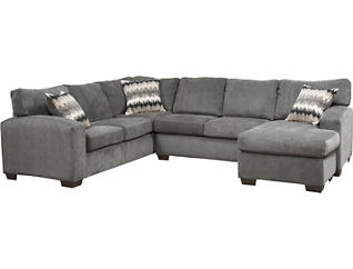 Fenella Smoke 2 Piece Right-Arm Facing Sectional, , large